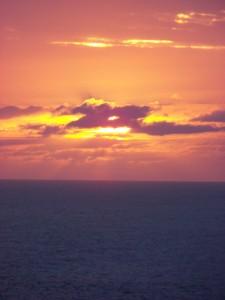 Puesta de sol desde Frouxeira