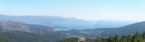 Vistas ria Muros y Noia desde Paxareiras.