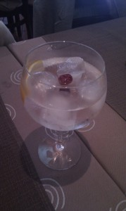 Gin tonic Brockmans