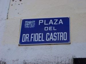 Calle Fidel Castro en Poboa de Buron