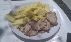 lomo con patatas