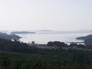 Vistas desde Muiño de Catoira